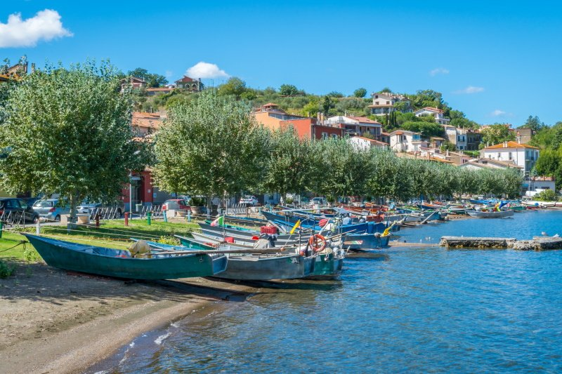 Scenic sight in Marta, on the Bolsena Lake, province of Viterbo, Lazio.
